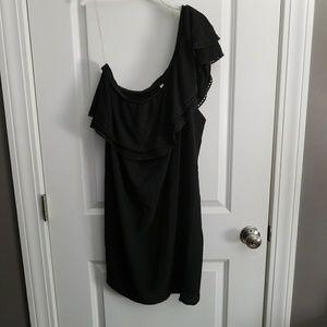 XXL Xhiliration 1-shoulder dress, black, Euc